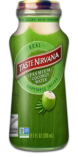 TASTE NIRVANA Real Coconut Water - Pure - Click Image to Close